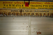 Signage of a little Indian grocer in Little India, Singapore
