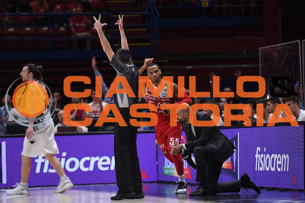 Curtis Jerrels<br /> EA7 Emporio Armani Olimpia Milano - Dolomiti Energia Trentino<br /> Playoff - Finale - Gara 1<br /> LegaBasket Serie A 2017/2018<br /> Milano, 05/06/2018<br /> Foto M.Ceretti / Ciamillo-Castoria
