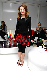 Actress DAKOTA BLUE RICHARDS at a party hosted by PPQ of Mayfair at the Fiat Flagship Store, 105 Wigmore Street, London W1 on 11th February 2008.