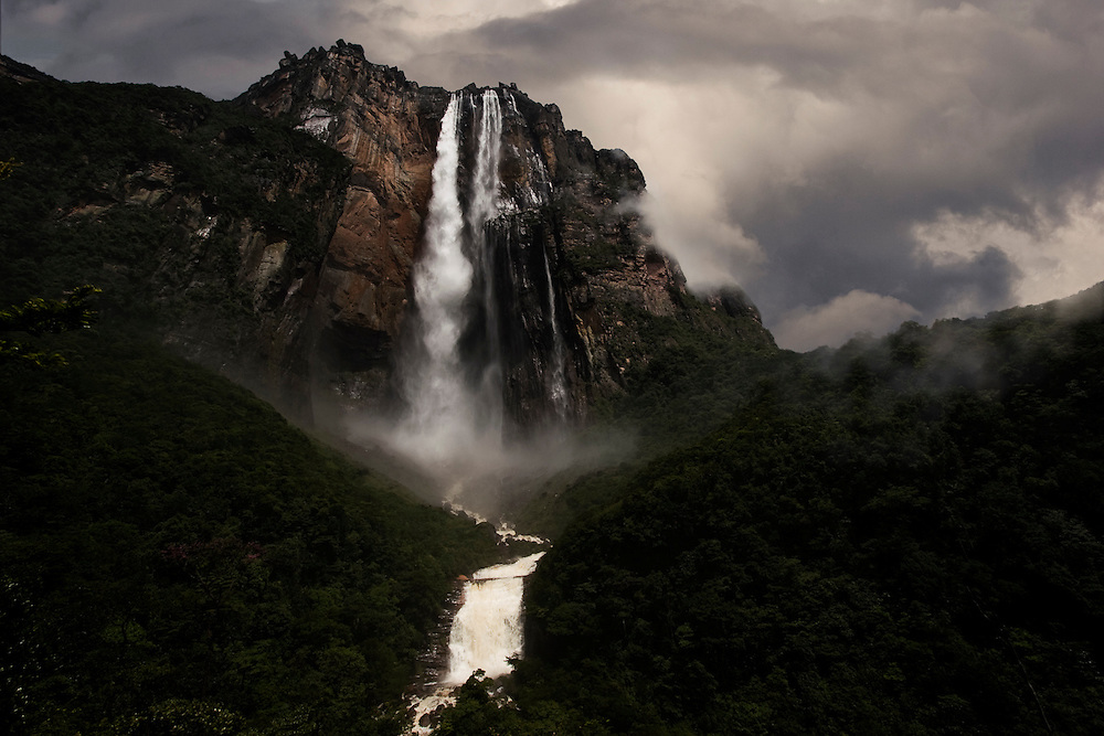 Salto Angel, the highest waterfall in the world, Venezuela