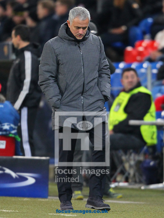 Jose Mourinho of Manchester United during the UEFA Champions League match at St. Jakob-Park, Basel<br /> Picture by Yannis Halas/Focus Images Ltd +353 8725 82019<br /> 21/11/2017