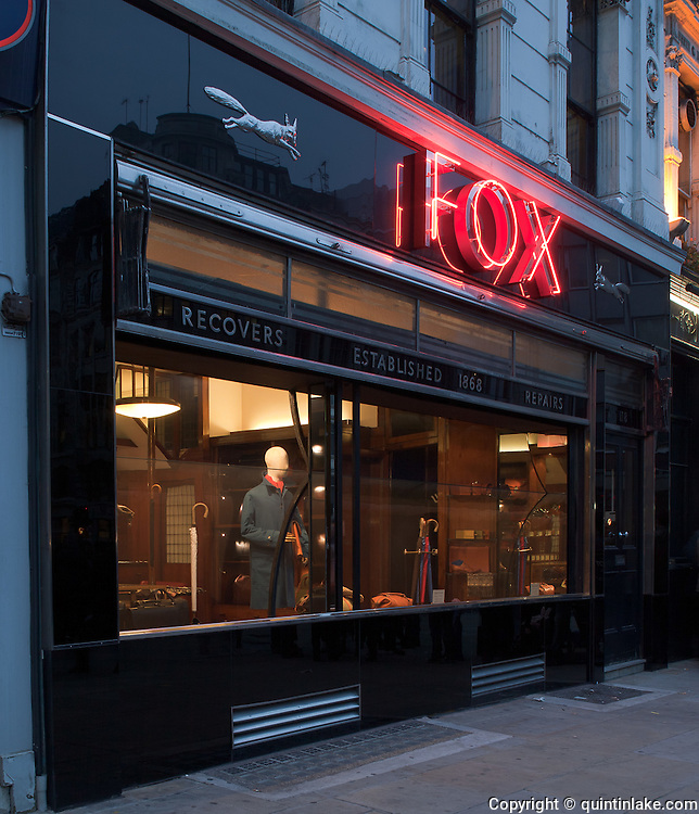 Fox Umbrella Shop, 118 London Wall