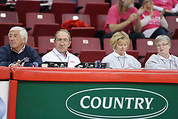 29 October 2011: Volleyball Bench officials (Mike Biggs, Mike Lockett, Kathy, ?) During a match between the Creighton Bluejays and the Illinois State Redbirds at Redbird Arena in Normal Illinois