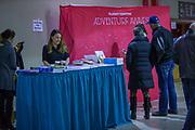 KELOWNA, CANADA - FEBRUARY 17:  Flight Centre at the Kelowna Rockets game on February 17, 2018 at Prospera Place in Kelowna, British Columbia, Canada.  (Photo By Cindy Rogers/Nyasa Photography,  *** Local Caption ***