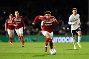 Marcus Tavernier (7) of Middlesbrough on the attack during the EFL Sky Bet Championship match between Fulham and Middlesbrough at Craven Cottage, London, England on 17 January 2020.