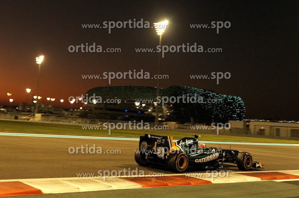 12.11.2011, Yas-Marina-Circuit, Abu Dhabi, UAE, Grosser Preis von Abu Dhabi, im Bild Heikki Kovalainen (FIN), Lotus F1 Racing .  // during the Formula One Championships 2011 Large price of Abu Dhabi held at the Yas-Marina-Circuit, 2011/11/12. EXPA Pictures © 2011, PhotoCredit: EXPA/ nph/ Dieter Mathis..***** ATTENTION - for Austria Media usage only! *****