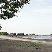 The lakefront along Lago Nicaragua next to Granada. Centro Turistico is a 2KM stretch of lakefront with parks, walkways, picnic areas, and restaurants. But it has evidently lacked funding for upkeep since opening.