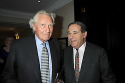 Left to right, LORD HESELTINE and LORD BRITTAN of Spennithorne at the Palace of Varieties in aid of Macmillan Cancer Support held at the InterContinental Hotel, Park Lane, London on 5th February 2009.