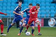 Barney Williams (Welling United) during the Vanarama National League match between FC Halifax Town and Welling United at the Shay, Halifax, United Kingdom on 30 January 2016. Photo by Mark P Doherty.