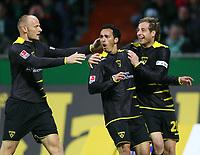 Fotball<br /> Bundesliga Tyskland<br /> 20.04.2007<br /> Foto: Witters/Digitalsport<br /> NORWAY ONLY<br /> <br /> Jubel 0:1 v.l. Matthias Heidrich, Sergio Pinto, Matthias Lehmann Aachen<br /> Bundesliga  SV Werder Bremen - Alemannia Aachen