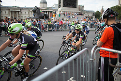 Leah Kirchmann (CAN) of Liv-Plantur Cycling Team rides through Trafalgar Square during the Prudential RideLondon Classique, a 66 km road race in London on July 30, 2016 in the United Kingdom.