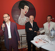 Presentation of Salon 2008 magazine at Rudolf Budja Galerie. From l.: Thomas Manss (Art Director), Derek Weber (Editor-in-chief), Dr. Bodo Polzer (Editor).