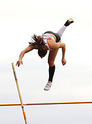 Runner Up in the Women's Pole Vault Katerina Stefanidi (Greece) flies over the bar during the Muller Grand Prix at Alexander Stadium, Birmingham, United Kingdom on 18 August 2018. Picture by Ian Stephen.