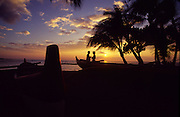 Sunset with couple, Hawaii<br />