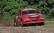 Katsu TAGUCHI (JPN) & Mark STACEY - Mitsubishi Lancer Evo 9.Media Day/Shakedown.Red Devil Energy Drink Rally of Queensland.Nambour Showgrounds, Nambour, Sunshine Coast, Qld.8th of May 2009.(C) Joel Strickland Photographics.Use information: This image is intended for Editorial use only (e.g. news or commentary, print or electronic). Any commercial or promotional use requires additional clearance.