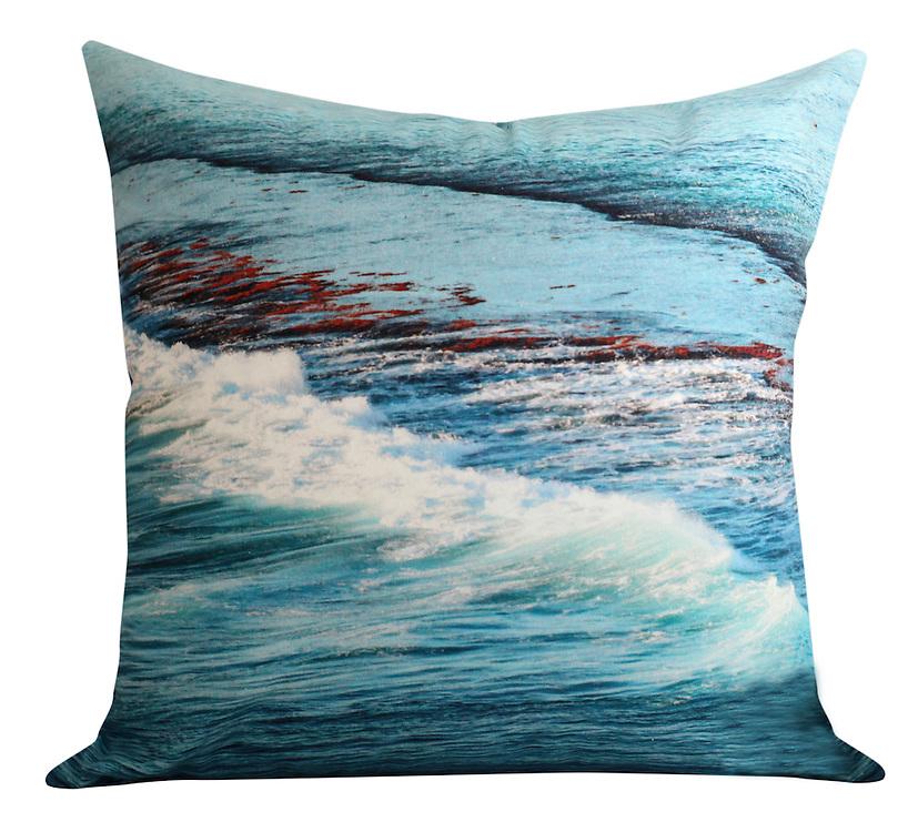 ocean cushion one. 50x50cm. cotton twill fabric.