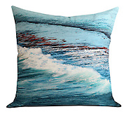 ocean cushion one. 50x50cm. cotton twill fabric.