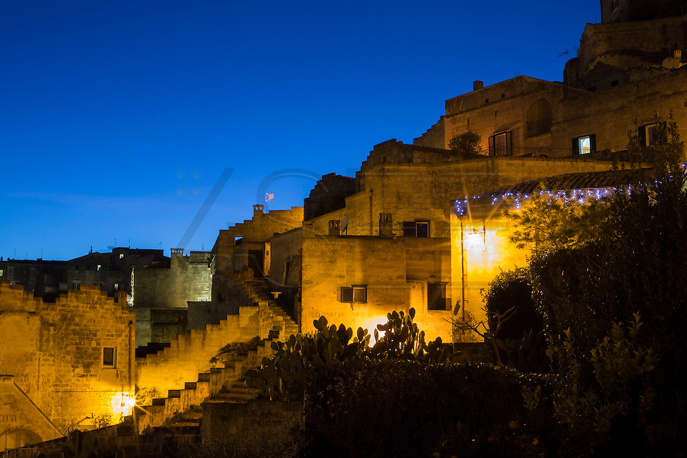 General night view of Sassi di Matera