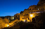 General night view of Sassi di Matera