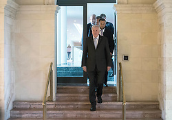 September 6, 2016 - Munich, Bavaria, Germany - Bavarian State Premier Horst Seehofer walks through a door in the Bavarian State Chancellery ahead of the cabinet meeting in Munich, Germany, 06 September 2016. Photo:PETERKNEFFEL/dpa (Credit Image: © Peter Kneffel/DPA via ZUMA Press)