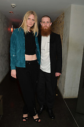 LOWELL DELANEY and KIM TRAGER at the Lancôme pre BAFTA party held at The London Edition, 10 Berners Street, London on 14th February 2014.