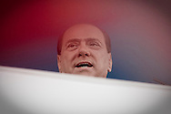 Roma 20.03.2010 Italy - Manifestazione del Popolo delle Libertà voluta da Silvio Berlusconi. Nella Foto: Silvio Berlusconi dal palco. Foto Giovanni Marino