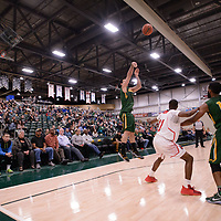 5th year guard Alex Igual (4) of the Regina Cougars during the Men's Basketball home game on January 27 at Centre for Kinesiology, Health and Sport. Credit: Arthur Ward/Arthur Images