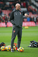 Football - 2017 / 2018 Premier League - AFC Bournemouth vs. Arsenal<br /> <br /> Arsenal Assistant Manager Steve Bould checks his watch bat Dean Court (Vitality Stadium) Bournemouth <br /> <br /> COLORSPORT/SHAUN BOGGUST