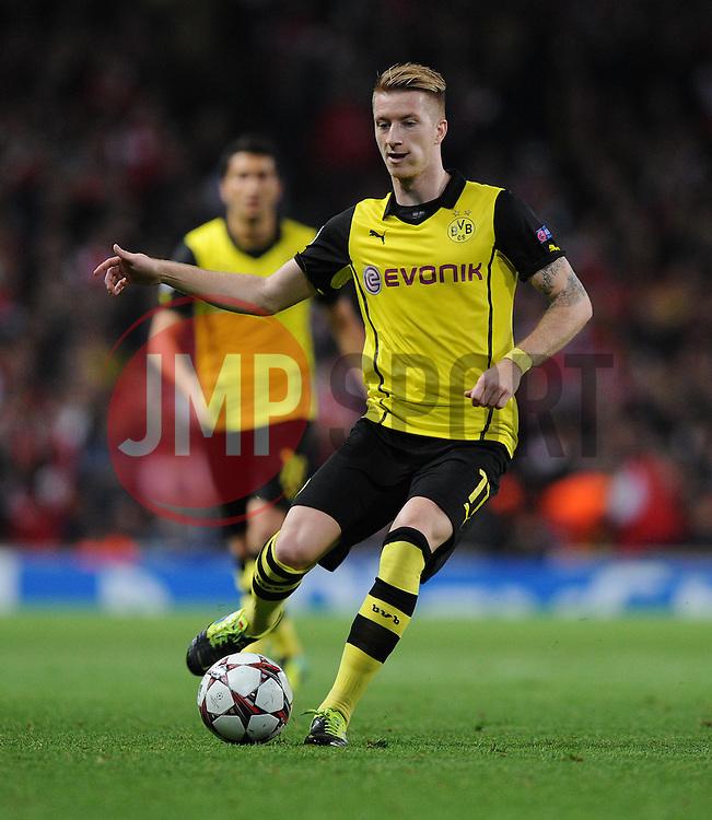 Borrusia Dortmund's Marco Reus - Photo mandatory by-line: Alex James/JMP - Tel: Mobile: 07966 386802 22/10/2013 - SPORT - FOOTBALL - Emirates Stadium - London - Arsenal v Borussia Dortmund - CHAMPIONS LEAGUE - GROUP F