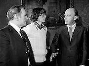 After his World Championship Cross Country win, John Treacy (Waterford) is received by  President Hillery at Aras an Uachtarain. With them is Bill Coghlan, President B.L.E..<br /> 31/03/1978