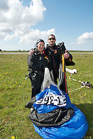 17/05/2013 Sr. Patricia Hall 75 who skydived in Galway in aid of AWARE. Photo:Andrew Downes.No Syndication Permitted