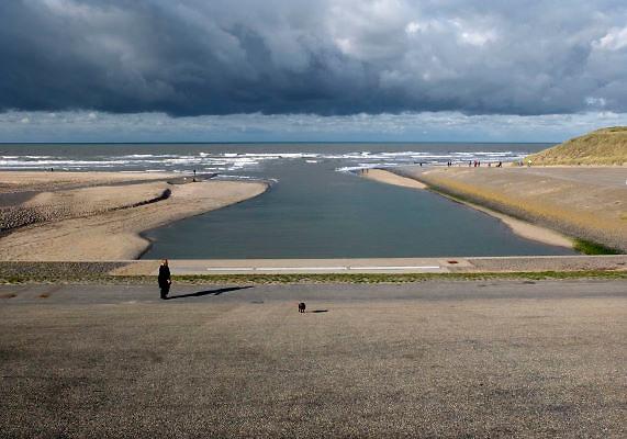 Nederland, Katwijk aan zee, 29-10-2012Monding van de oude rijn.Door aanpassing is het eigenlijk kanaal geworden.Foto: Flip Franssen/Hollandse Hoogte