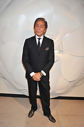 Fashion designer VALENTINO at a private view of 'Valentino: Master Of Couture' at Somerset House, London on 28th November 2012.
