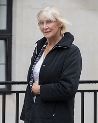 © Licensed to London News Pictures. 08/04/2018. London, UK. Specialist hip surgeon Sarah Muirhead-Allwood is seen leaving the King Edward VII Hospital. The Duke of Edinburgh is spending a 5th day recovering in the hospital after undergoing a hip operation on Wednesday. It is not known if Miss Muirhead-Allwood performed the operation, but she previously operated on the Queen Mother. Photo credit: Peter Macdiarmid/LNP
