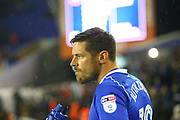 Birmingham City's Lukas Jutkiewicz during the EFL Sky Bet Championship match between Birmingham City and Sheffield Wednesday at St Andrews, Birmingham, England on 27 September 2017. Photo by John Potts.