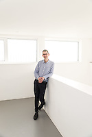 Edmund de Waal photographed in his studio in London.