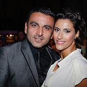 NLD/Amsterdam/20121013- LAF Fair 2012 VIP Night, Kristina Bozilovic en partner Tamar Gonen