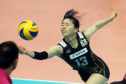 Japan Risa Shinnabe digs a ball