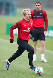 CARDIFF, WALES - Sunday, March 24, 2013: Wales' Jonathan Williams during a training session at the Vale of Glamorgan ahead of the 2014 FIFA World Cup Brazil Qualifying Group A match against Croatia. (Pic by David Rawcliffe/Propaganda)  CARDIFF, WALES - Sunday, March 24, 2013: Wales' xxxx during a training session at the Vale of Glamorgan ahead of the 2014 FIFA World Cup Brazil Qualifying Group A match against Croatia. (Pic by David Rawcliffe/Propaganda)
