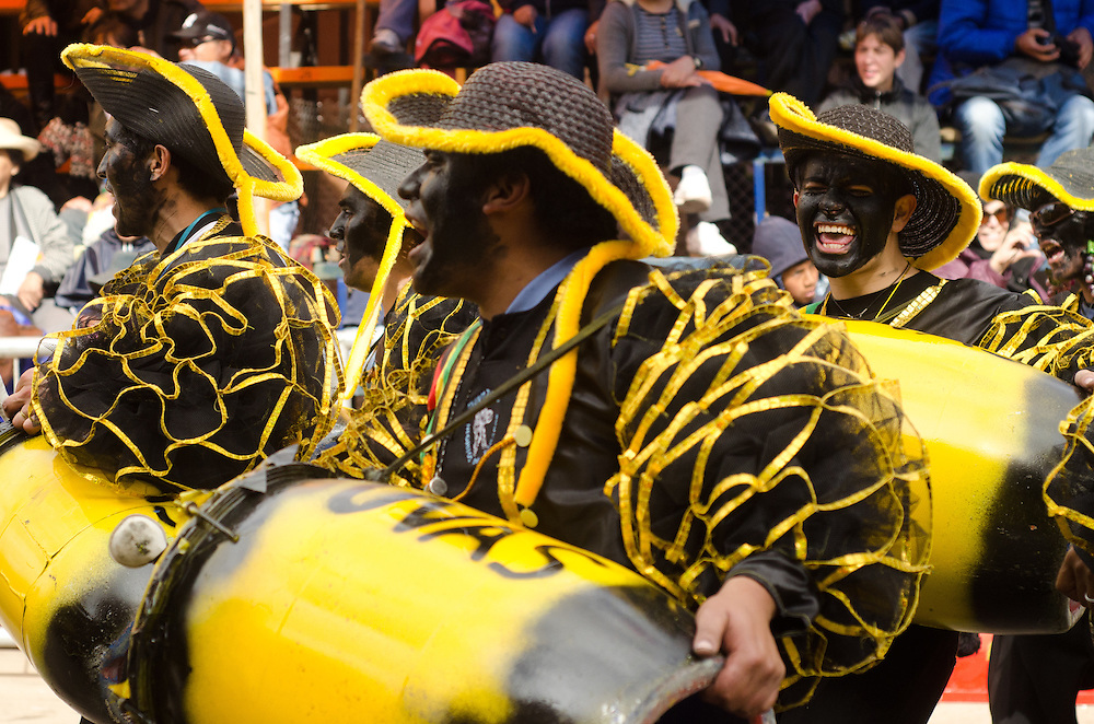 Drummers at Carnival in Oruro, Bolivia.