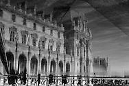 France. Paris. 1st district. Louvre museum.  main courtyard /  musee du Louvre