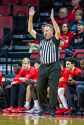 NORMAL, IL - December 18:  Gary Maxwell signals a 3 point basket during a college basketball game between the ISU Redbirds and the UIC Flames on December 18 2019 at Redbird Arena in Normal, IL. (Photo by Alan Look)