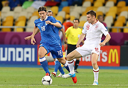 Riccardo Montolivo (ITA) und James Milner (ENG) .during Italy V England Quarter-finals in the Euro 2012, Sunday June 24, 2012, in Kiev, Ukraine. Photo By Imago/i-Images