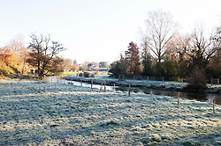 ©Licensed to London News Pictures 02/12/2019.<br /> Eynsford,UK. A cold and frosty December morning in Eynsford, Kent, as temperatures dropped over night. Photo credit: Grant Falvey/LNP