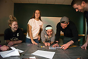 Students and their siblings participate in an escape room at Ping Recreation Center during Sibs Weekend on Feb. 2, 2019. Photo by Hannah Ruhoff