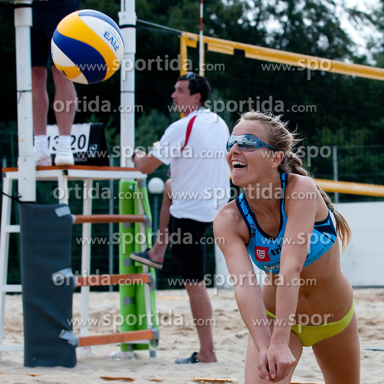 Sara Sakovic at Zavarovalnica Triglav Beach Volley Open as tournament for Slovenian national championship on July 29, 2011, in Preddvor, Slovenia. (Photo by Matic Klansek Velej / Sportida)