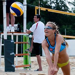 Sara Sakovic at Zavarovalnica Triglav Beach Volley Open as tournament for Slovenian national championship on July 29, 2011, in Preddvor, Slovenia. (Photo by Matic Klansek Velej / Sportida)