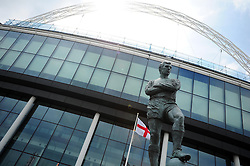 Bobby Moore statue at Wembley Stadium  - Photo mandatory by-line: Dougie Allward/JMP - Tel: Mobile: 07966 386802 19/05/2013 - SPORT - FOOTBALL - LEAGUE 1 - PLAY OFF - FINAL - Wembley Stadium - London - Brentford V Yeovil Town