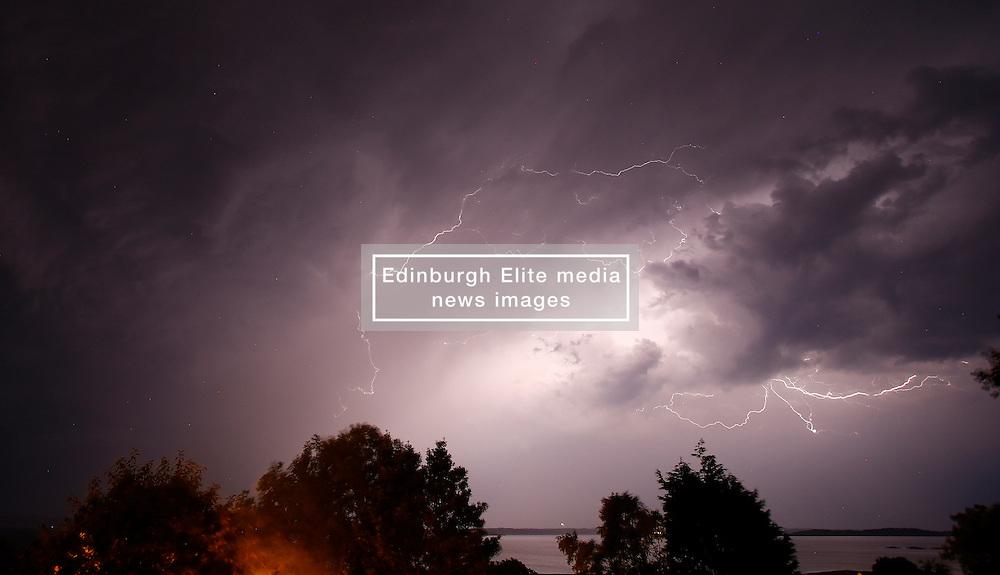 Thunder and lightning storm near Obanin the early hours of 20th July. (c) Stephen Lawson | Edinburgh Elite media
