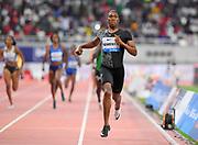 Caster Semnya (RSA) wins the women's 800m in 1:54.98 during the IAAF Doha Diamond League 2019 at Khalifa International Stadium, Friday, May 3, 2019, in Doha, Qatar (Jiro Mochizuki/Image of Sport)